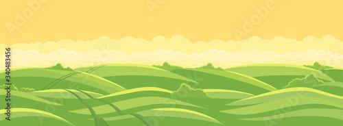 Photo Green field landscape