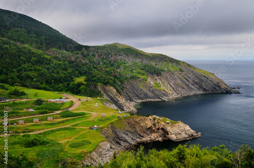 Valokuva Meat Cove campgrounds at the north tip of Cape Breton Island Nova Scotia