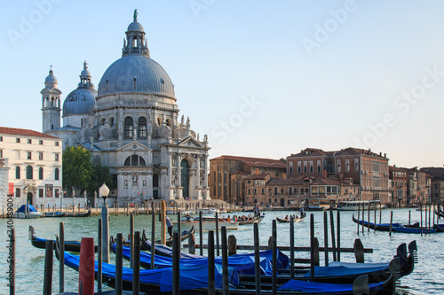 Fototapety, obrazy: Santa Maria Della Salute By Grand Canal Against Sky
