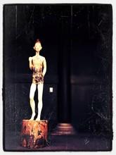 Human Statue Standing On Stomp