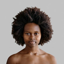 Black Model With Natural Hair