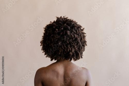 Black model with natural hair Slika na platnu