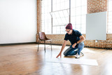 Man working on the floor - 340511457