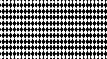 Rhombus Black White Pattern For Background, Geometric Diamond Pattern For Backdrop, Rhombus Black On White For Wall Decoration, Wallpaper Fabric Cloth Fashion Rhombus, Textile Geometric Rhombus Luxury