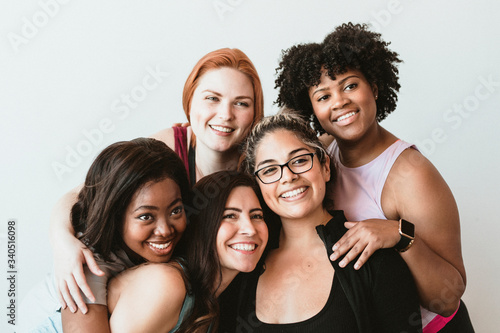 Group of active women Canvas Print