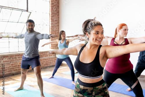 Beginners yoga class Tapéta, Fotótapéta