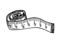 Rolled Up Tape Measure Sketch....