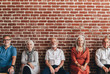 canvas print picture - Seniors sitting in a row