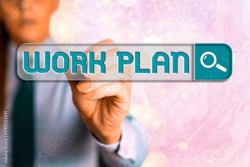Photo Word writing text Work Plan