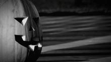 Close-up Of Jack O Lantern On Footpath