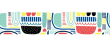 Abstract Doodle Shapes Collage...