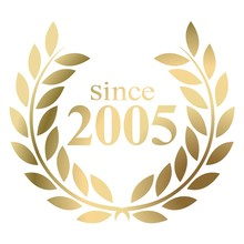 Year 2005 Gold Laurel Wreath Vector Isolated On A White Background