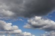 Blue sky background with clouds. Sky with clouds