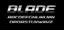 Blade Letters Set. Polished Me...
