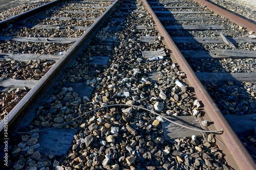 train track Canvas-taulu