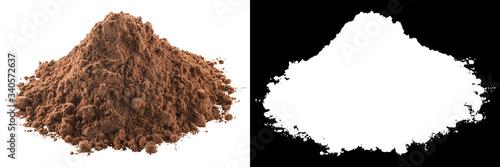 Cuadros en Lienzo Ground cocoa powder, paths