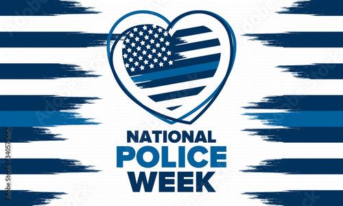 Fototapeta National Police Week in May