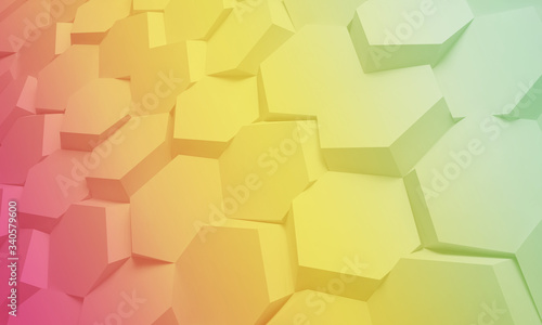 3D honeycomb abstract background Canvas Print