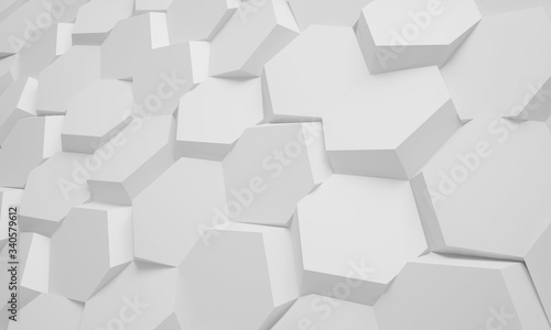 3D honeycomb abstract background Wallpaper Mural