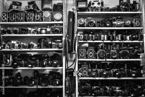 Akihabara camera second hand store Canvas Print