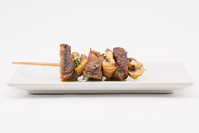 Grilled Meat Brochette With Mu...