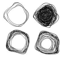 Set Of Vector Hand Drawn Disto...