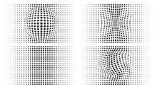 Set Of Halftone Convex Distort...