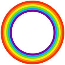 Rainbow Circle Frame