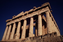 Low Angle View Of Parthenon At...