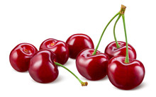 Cherry Isolated. Cherries On W...