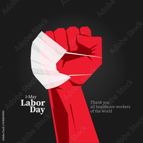 Stampa su Tela 1 st. May Labor day message.
