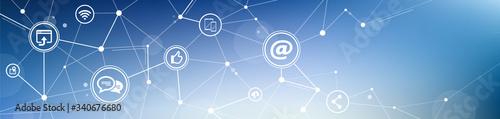 mobile communication / social media marketing vector illustration Fototapete