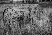 Vintage Hay Rake Abandoned.