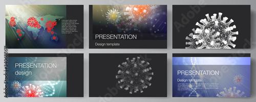 Vector layout of the presentation slides design business templates, multipurpose template for presentation report Slika na platnu