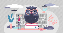 Wise Owl Vector Illustration. ...