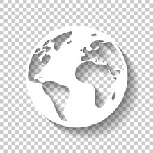 Earth Planet, Global Map. Whit...