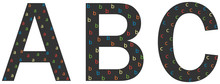 Beautiful Abc Decorated With Simple Abc.