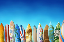 Background With Surfboards