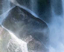 Misty Water Hitting The Rocks ...
