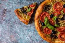 Vegetarian Homemade Pizza With...