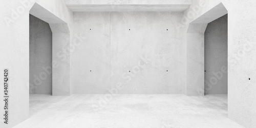 Abstract empty, modern concrete walls room with indirekt light from the ceiling, Fototapet