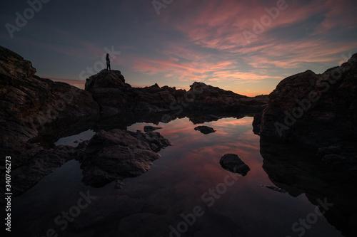 Photo tramonto all'isola d'elba nella zona di calamita