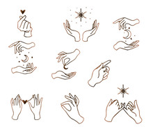 Feminine Hand Logo Collection...