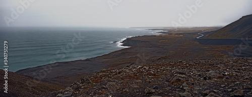 Obraz Cudowny widok z z wysokich gór na ocean - fototapety do salonu