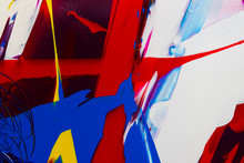 Abstract Thick Paint Marks, St...