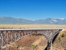 Rio Grande Gorge Bridge With T...