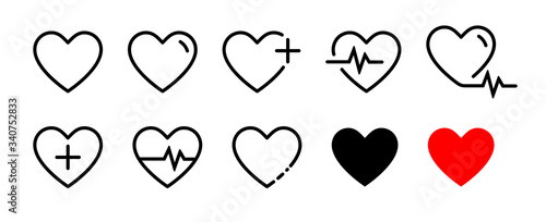 Heart vector icons Fotobehang