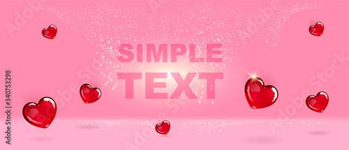 Heart shaped candies realistic vector product ads banner template Tapéta, Fotótapéta