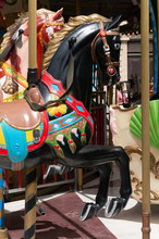 Finely Decorated Carousel Horse Heads