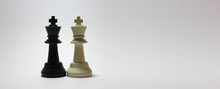 Chess Pieces On Black Background